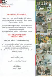 Obvestilo za devetošolce in njihove starše – DAN ODPRTIH VRAT